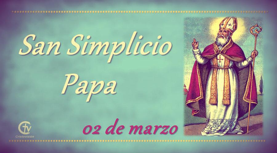 SANTO DEL DÍA || San Simplicio,  Papa