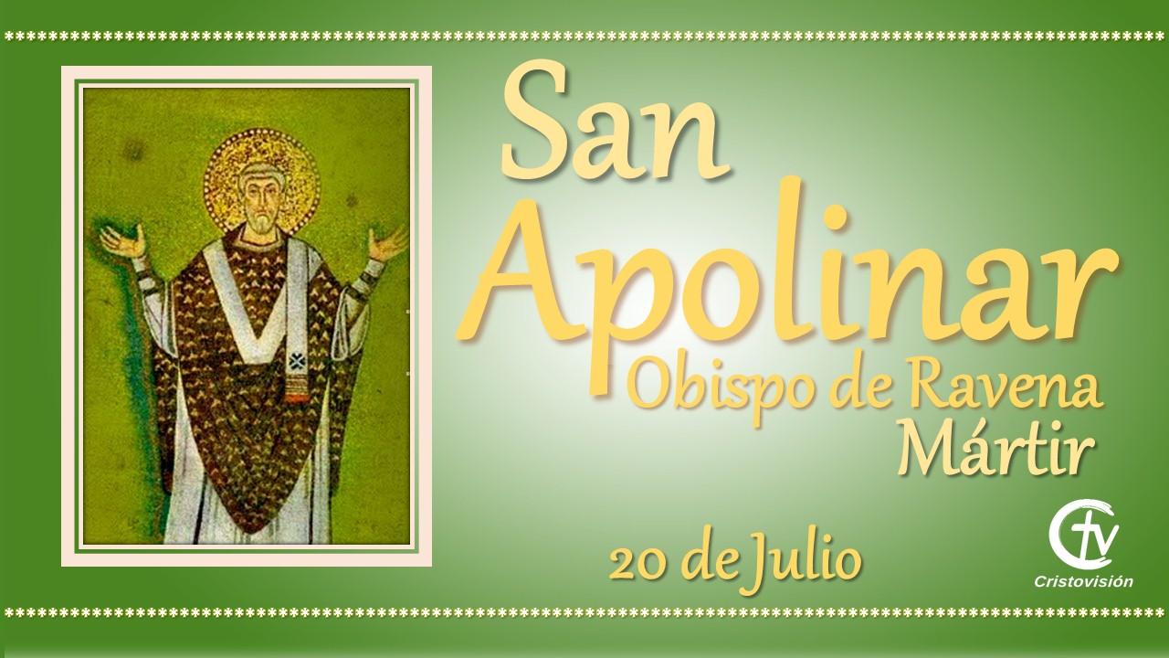 SANTO DEL DÍA    San Apolinar, Obispo de Ravena, Mártir