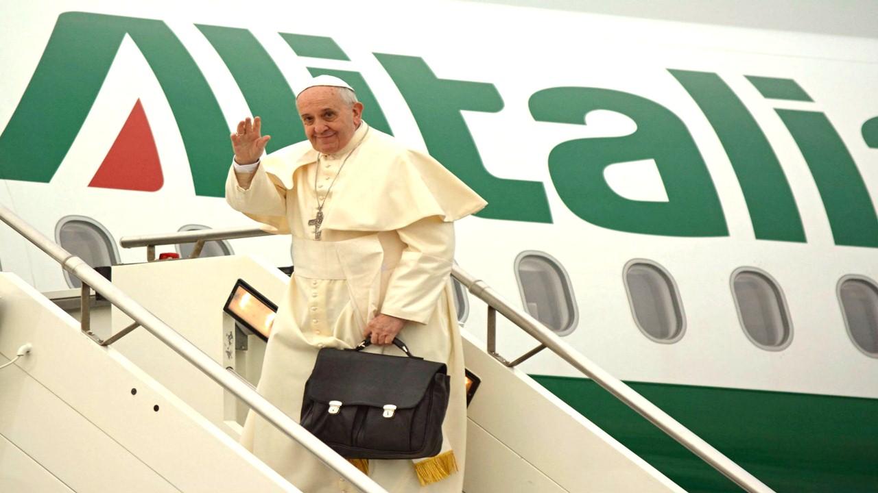 Transmisión salida del del Papa Francisco desde el aeropuerto Fiumicino a CATAM