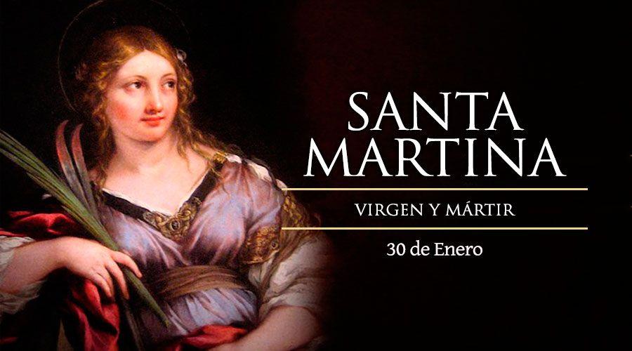 Santa Martina, Virgen y Mártir