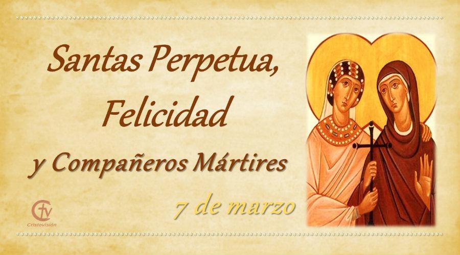 SANTO DEL DÍA || Santas Perpetua, Felicidad y Compañeros Mártires