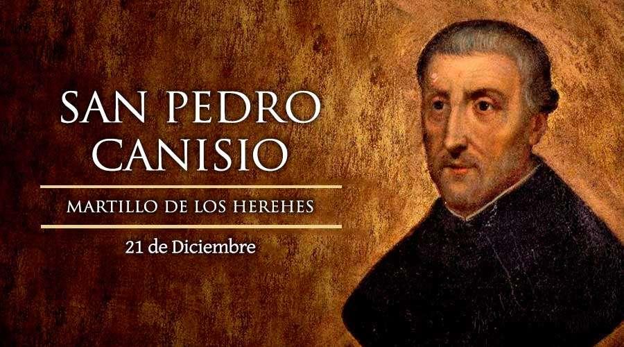 San Pedro Canisio, martillo de los herejes.