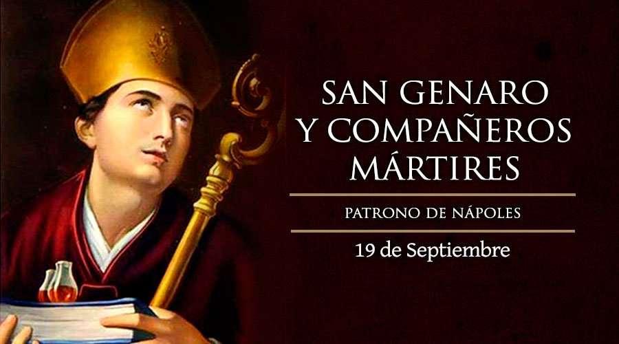 San Genaro, patrón de Nápoles (Italia), fue Obispo de Benevento.