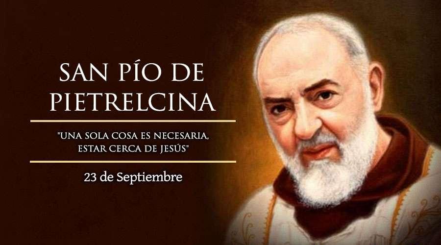 Hoy celebramos a San Pio de Pietrelcina