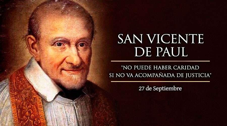 San Vicente de Paul, Patrono de las obras de caridad
